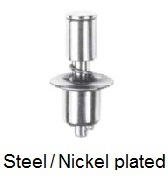 15S1-*-1AD - Push button stud - steel/nickel plated