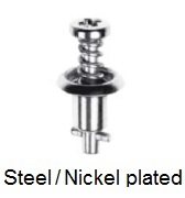 26S39-* - Cross recess pan head stud - steel/nickel-plated