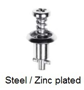 V26S02-*AGV - Cross recess pan head stud - steel/zinc plated