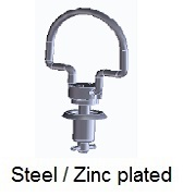 V26S22-*AGV - Folding bail handle stud - steel/zinc plated