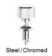 26S34-* - Knurled head stud - steel/chrome-plated