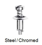 26S38-* - Slotted recess pan head stud - steel/chrome-plated