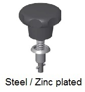 V26S06-*AGV - Plastic star form head stud - steel/zinc plated