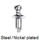 26S42-* - Slotted recess pan head stud - steel/nickel-plated