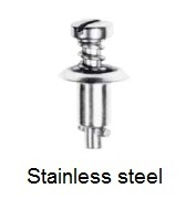 2600-*S - Slotted recess pan head stud - stainless steel