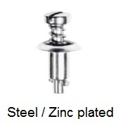 V26S01-*AGV - Slotted recess pan head stud - steel/zinc plated
