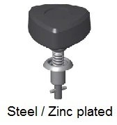 V26S08-*AGV - Plastic triangular head stud - steel/zinc plated