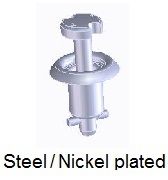 1593S01-*AE - Tamper proof pan head stud - steel/nickel-plated