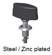 V26S07-*AGV - Plastic wing head stud - steel/zinc plated