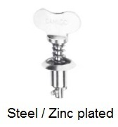 V26S04-*AGV - Fixed wing head stud - steel/zinc plated