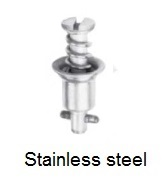 2700-*S - Slotted recess flush head stud - stainless steel