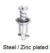 V27S01-*AGV - Slotted recess flush head stud - steel/zinc plated