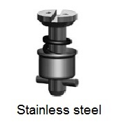 D4002-*BP - Slotted recess head stud - stainless steel