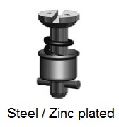 D4002-*AGV - Slotted recess head stud - steel/zinc plated