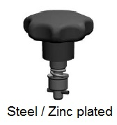 D40E22-*AGV - Star form head stud - steel/zinc plated