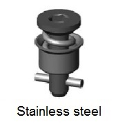 D40E28-*BP - Hex recess head stud - stainless steel