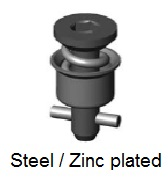 D40E28-*AGV - Hex recess head stud - steel/zinc plated