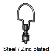 D40S47-*AGV - Folding bail handle stud - steel/zinc plated