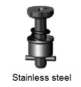 D40S5-*BP - Cross recess head stud - stainless steel