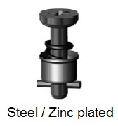 D40S5-*AGV - Cross recess head stud - steel/zinc plated
