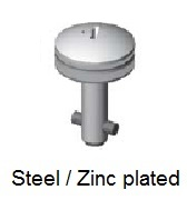 50E71-*AGV - Cross recess head stud - steel/zinc plated