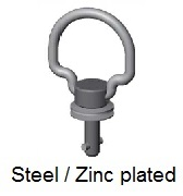 50E19-*AGV - Folding bail handle stud - steel/zinc plated