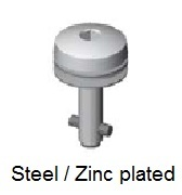 50E61-*AGV - Hex recess head stud - steel/zinc plated