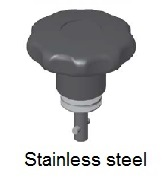50E81-*CP - Star form head stud - stainless steel