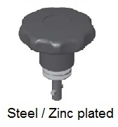 50E81-*AGV - Star form head stud - steel/zinc plated