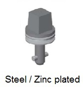 50E7-*AGV - Square head stud - steel/zinc plated