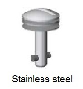 50E8-*S - Slotted recess head stud - stainless steel