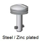 50E8-*AGV - Slotted recess head stud - steel/zinc plated