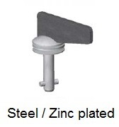 50E8-*W0AGV - Offset fixed wing head stud - steel/zinc plated
