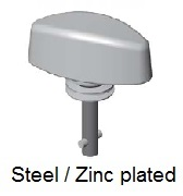 50E83-*AGV - Wing head stud - steel/zinc plated