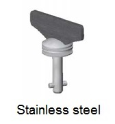 50E8-*WS - Fixed wing head stud - stainless steel