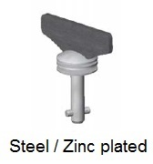 50E8-*WAGV - Fixed wing head stud - steel/zinc plated