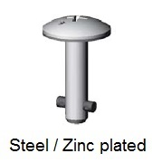 50E70-*AGV - Cross recess head stud - steel/zinc plated