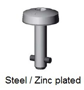 50E60-*AGV - Hex recess head stud - steel/zinc plated