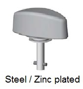 50E82-*AGV - Plastic wing head stud - steel/zinc plated