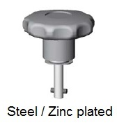 50E80-*AGV - Plastic star form head stud - steel/zinc plated