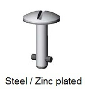 50E21-*AGV - Slotted recess head stud - steel/zinc plated