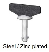 50E21-*WAGV - Fixed wing head stud - steel/zinc plated