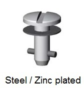 V5S5-*AGV - Slotted recess head stud - steel/zinc plated