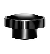258 Series - Dimcogray round fluted knob