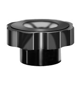 269 Series - Dimcogray round fluted knob