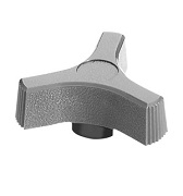 406 Series - Dimcogray 3-prong pronged knob