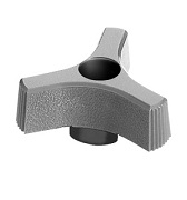 408 Series - Dimcogray 3-prong thru hole knob