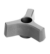 411 Series - Dimcogray 3-prong thru hole knob