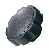 484 Series - Dimcogray round fluted knob