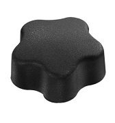 498 Series - Dimcogray 5-lobed soft feel knob